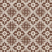 Dark Brown Tiled Italian Paper ~ Tassotti