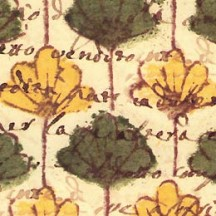 Retro Green and Yellow Floral Paper ~ Tassotti Italy