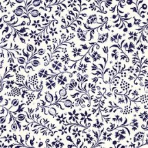 Petite Blue Calico Floral Print Paper ~ Tassotti Italy