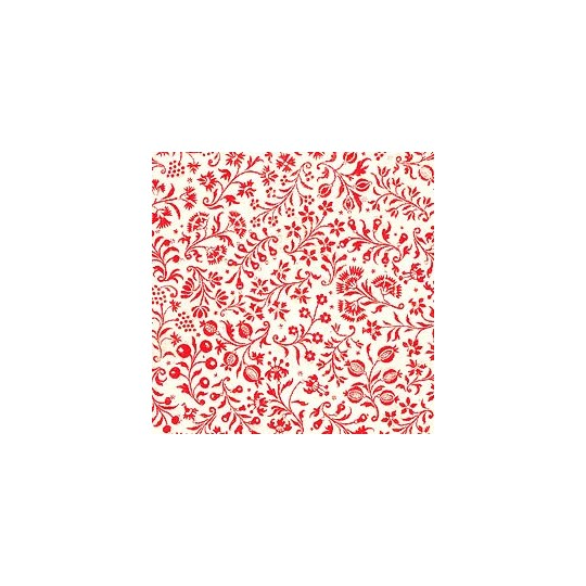 Petite Red Calico Floral Print Paper ~ Tassotti Italy