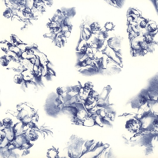 Blue Toile Angel Paper ~ Tassotti Italy