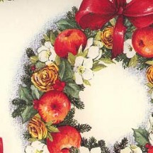 Christmas Wreaths Holiday Print Paper ~ Tassotti Italy