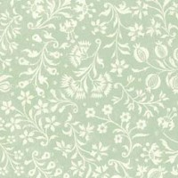 Light Green and Ivory Floral Print Italian Paper ~ Tassotti
