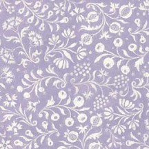 Light Purple and Ivory Floral Print Italian Paper ~ Tassotti