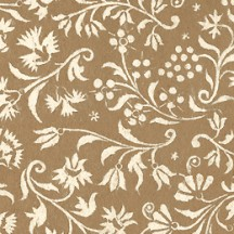 Golden and Ivory Floral Print Italian Paper ~ Tassotti