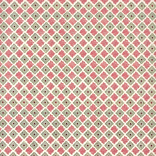 Red and Green Geometric Print Italian Paper ~ Tassotti