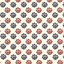 Red and Blue Floral Print Italian Paper ~ Tassotti