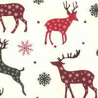 Mixed Reindeer Christmas Print Paper ~ Tassotti