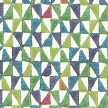 Multi-colored Geometric Stamped Print Paper ~ Tassotti