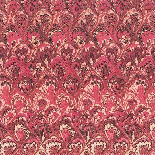 Red Marbelized Print Italian Paper ~ Tassotti