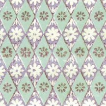 Geometric Stamped Floral Tiles Italian Paper ~ Tassotti