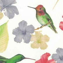 Hummingbirds and Flowers Italian Paper ~ Tassotti