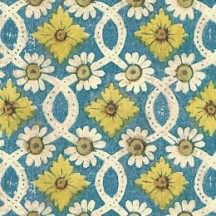 Daisy and Floral Geometric Link Print Paper ~ Tassotti
