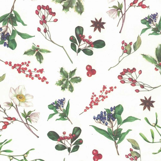 Christmas Greenery Holiday Print Paper ~ Tassotti