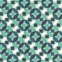 Teal and Aqua Geometric Circle Italian Paper ~ Tassotti