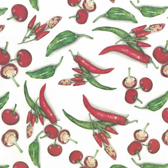 Red Chilis Italian Paper ~ Tassotti