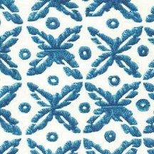 Blue Geometric Dot and Floral Italian Paper ~ Tassotti