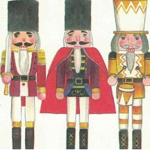 Mixed Nutcrackers Christmas Print Paper ~ Tassotti