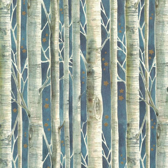 Winter Birch Trees Holiday Print Paper ~ Tassotti
