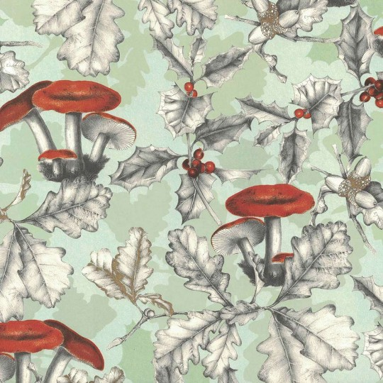 Forest Mushrooms Holiday Print Paper ~ Tassotti