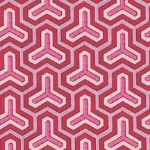 Red and Pink Geometric Italian Paper ~ Tassotti