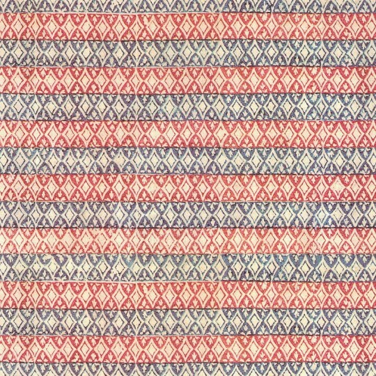 Blue and Red Geometric Stripe Italian Paper ~ Tassotti