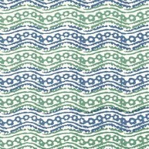 Blue and Green Geometric Wave Italian Paper ~ Tassotti