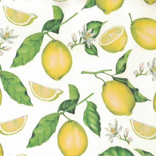 Bright Yellow Lemons Italian Paper ~ Tassotti