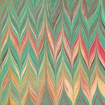 Multi-colored Marbled Flame Print Italian Paper ~ Tassotti