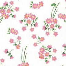 Petite Pink Calico Floral Print Paper ~ Tassotti Italy