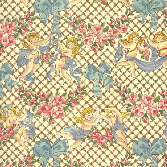 Angels and Rose Swags Italian Paper ~ Carta Varese Italy