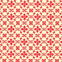 Red Kitchen Flower Print Italian Paper ~ Carta Varese Italy