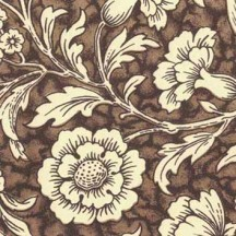 Brown Wildflowers Print Italian Paper ~ Carta Varese Italy