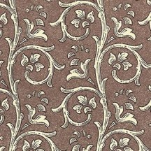 Brown Dappled Garland Print Italian Paper ~ Carta Varese Italy