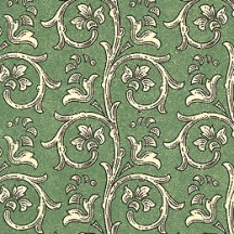 Green Dappled Garland Print Italian Paper ~ Carta Varese Italy