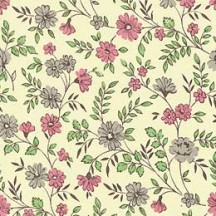 Pink and Grey Petite Calico Floral Print Paper ~ Carta Varese Italy