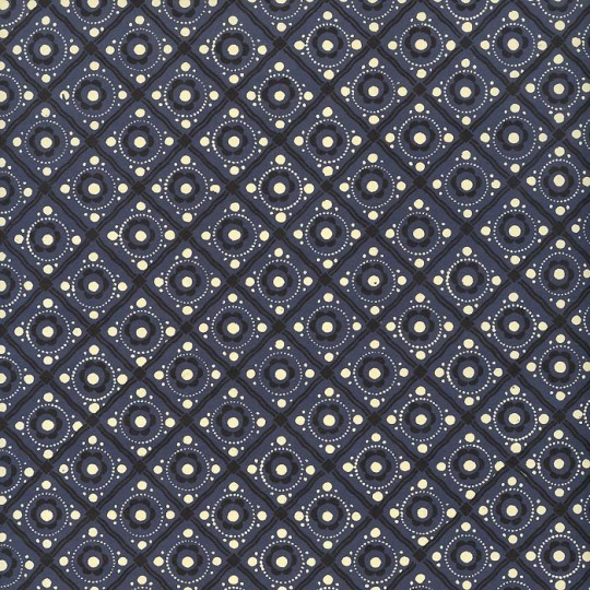 Blue and Black Dot and Grid Print Italian Paper ~ Carta Varese Italy