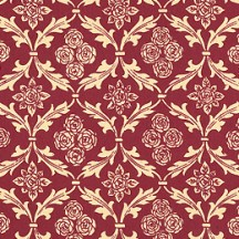 Burgundy Rose and Leaf Print Italian Paper ~ Carta Varese Italy