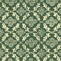 Green Rose and Leaf Print Italian Paper ~ Carta Varese Italy