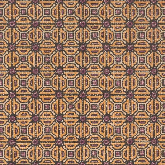 Yellow and Brown Tiled Geometric Print Italian Paper ~ Carta Varese Italy