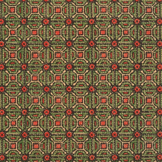 Red and Green Tiled Geometric Print Italian Paper ~ Carta Varese Italy