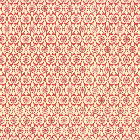 Red Flower Wheel Print Italian Paper ~ Carta Varese Italy