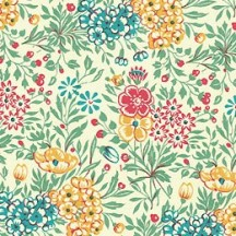 Petite Green Mixed Meadow Flowers Paper ~ Carta Varese Italy