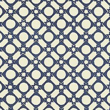 Blue Geometric and Star and Dot Print Italian Paper ~ Carta Varese Italy