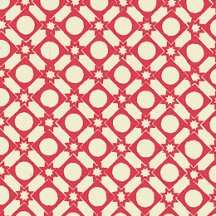 Red Geometric and Star and Dot Print Italian Paper ~ Carta Varese Italy