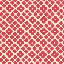 Red Floral and Cube Print Italian Paper ~ Carta Varese Italy