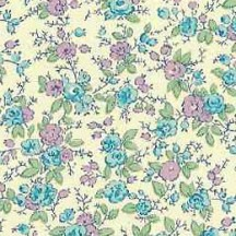 Blue and Purple Petite Floral Print Paper ~ Carta Varese Italy
