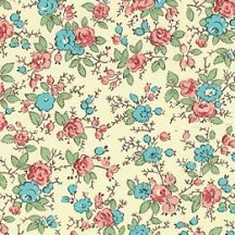 Blue and PInk Petite Floral Print Paper ~ Carta Varese Italy