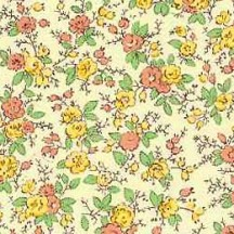 Yellow and Orange Petite Floral Print Paper ~ Carta Varese Italy