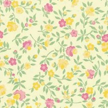 Yellow and PInk Floral Print Paper ~ Carta Varese Italy
